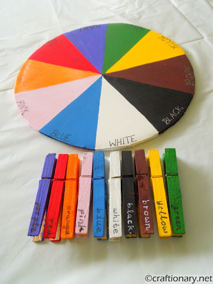 Educational activities for preschoolers: Color wheel game at Craftionary