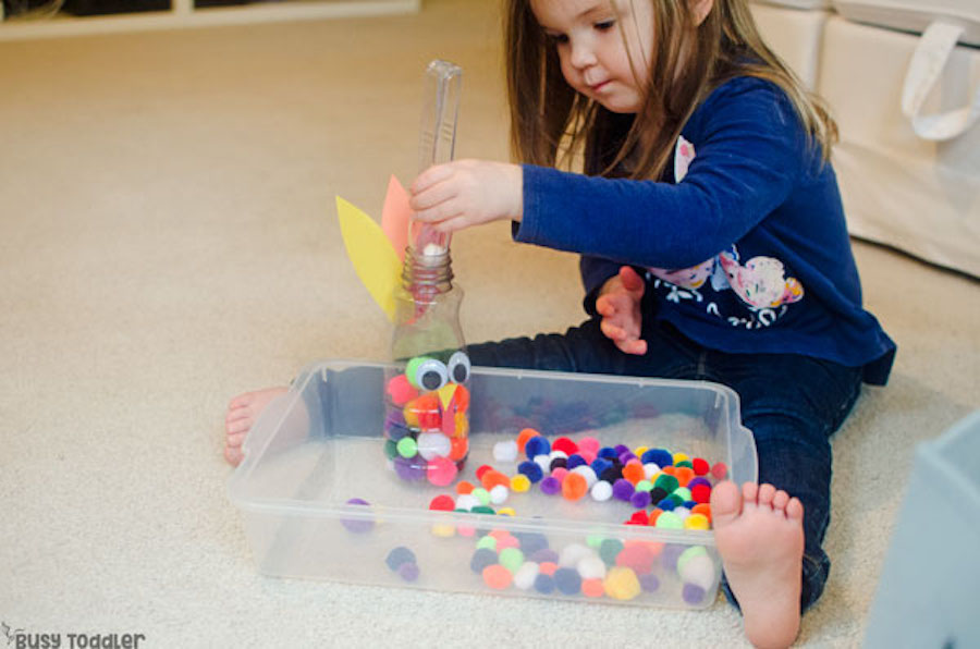 Educational activities for preschoolers: Feed the Turkey at Busy Toddler