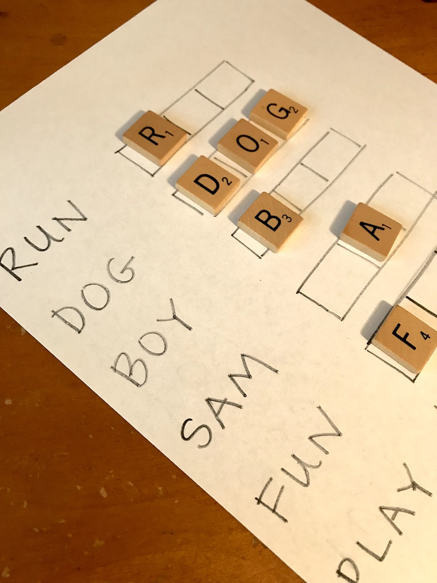 Educational activities for preschoolers: Letter game | Photo (c) Kate Etue for Cool Mom Picks