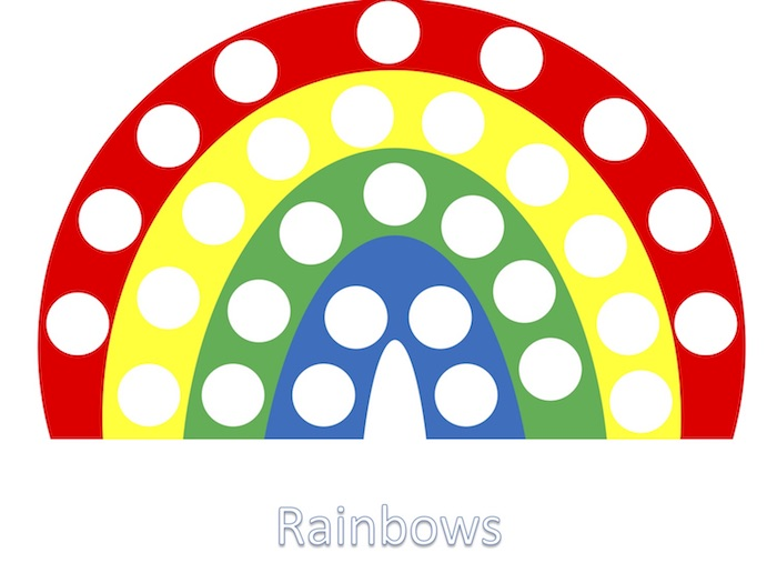 Educational activities for preschoolers: Rainbow matching at Engaging Toddler Activities