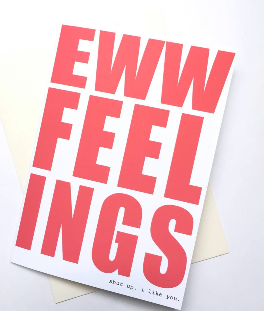 Funny Valentine's Day cards | Eww Feelings by Awkward Affections