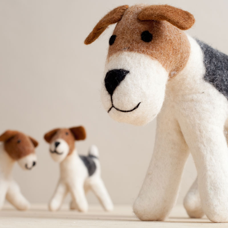 Chinese year of the dog baby gifts: Felt handmade, fair trade dog family | To the Market