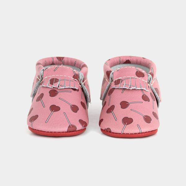 Freshly Picked Heart Lollipop Mocs: Cute first valentine's day gifts for babies | Cool Mom Picks