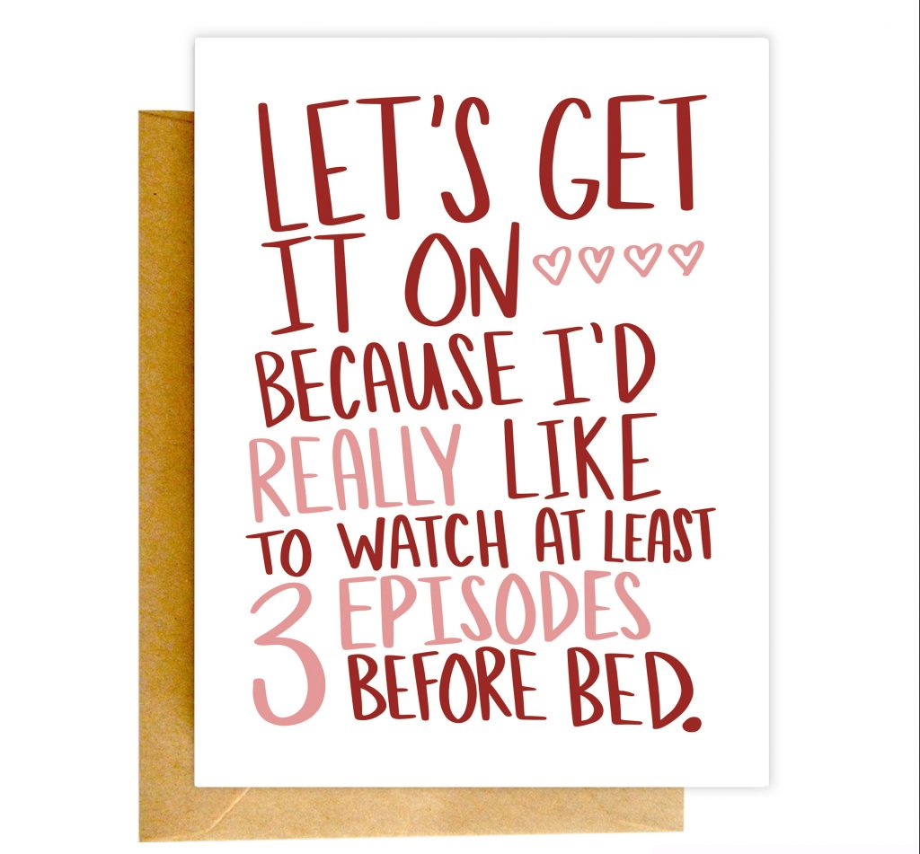 Funny Valentines Day Cards | Let's Get it On Valentine's Day Card by Knotty Cards