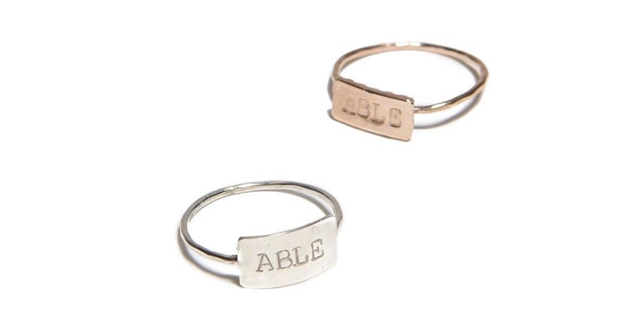 Mood-boosting jewelry: ABLE ring at FashionABLE