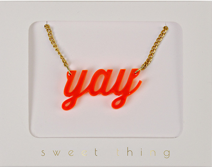 Mood boosting jewelry: YAY at MeriMeri
