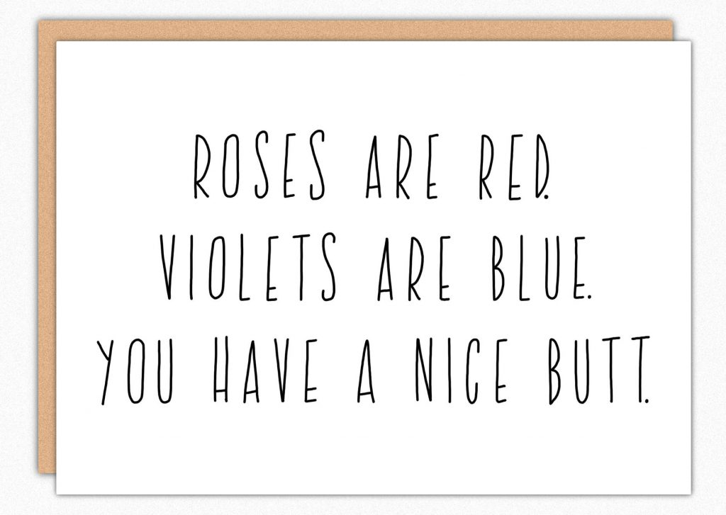 Funny Valentines Day Cards | nice butt valentine's day card by In a Nutshell Studio