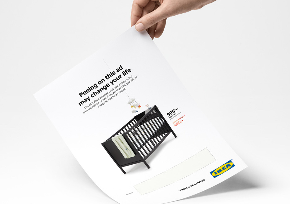 Pee on the IKEA Ad to get a discount if you're pregnant? Well, not exactly
