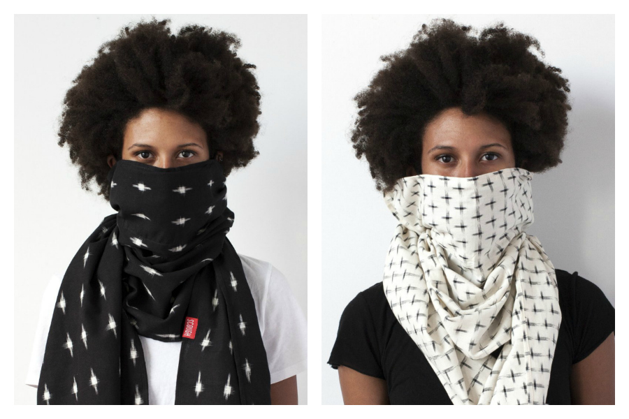 Meet Scough: The scarf that could protect you and your family from the flu.