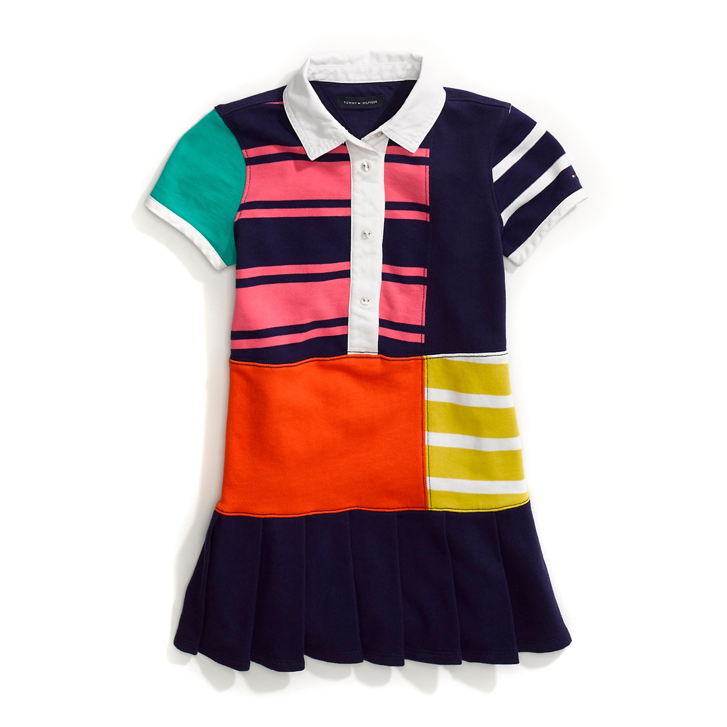 Tommy Hilfiger's new adaptive patchwork polo dress