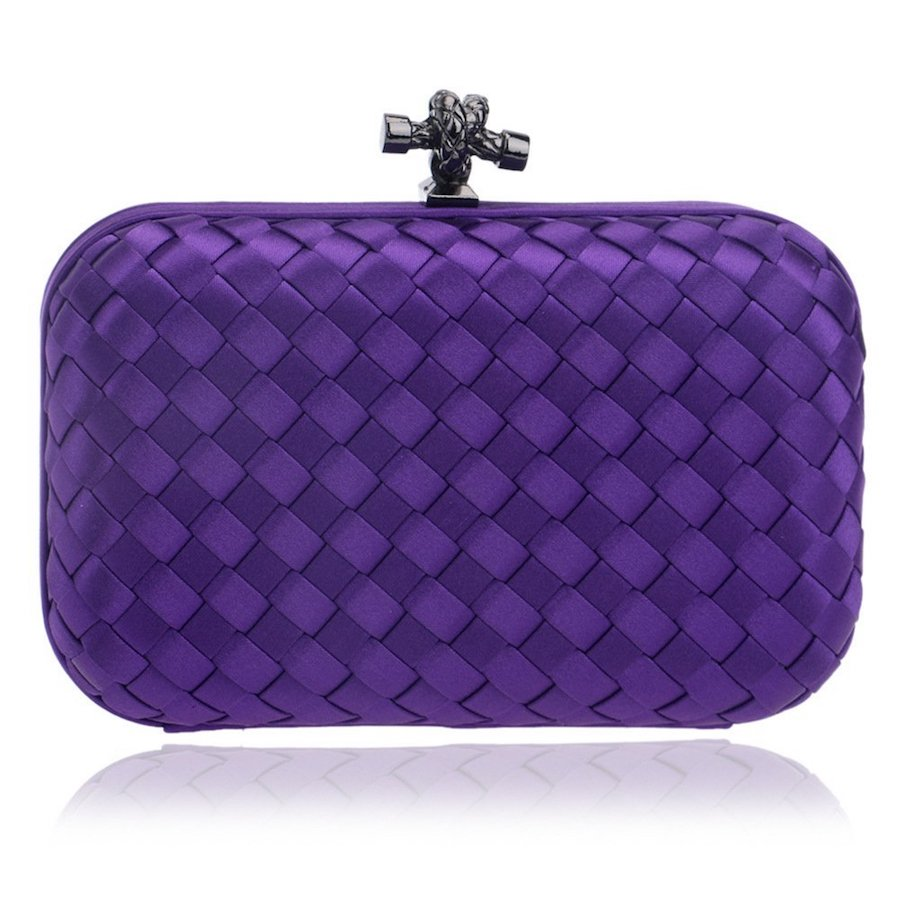 Affordable woven clutch in Ultra Violet to help you rock Pantone's 2018 color of the year
