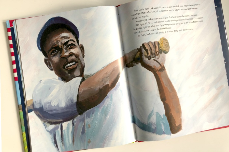 United States v Jackie Robinson: outstanding picture book for kids about his early life