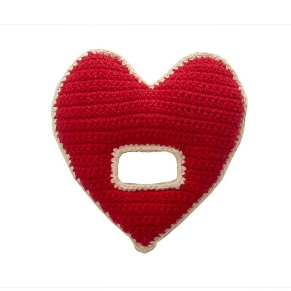 Valentine's Day gifts for babies: Crochet Heart Rattle at The Tot