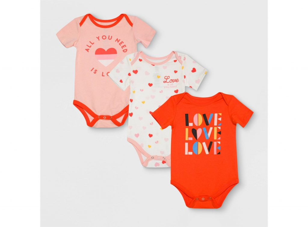 Valentine's Day gifts for babies: Valentine Body Suit Set from Target