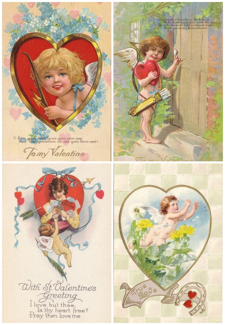 Creative Valentine's gift ideas supporting indie shops: This shop has an amazing collection of vintage valentines that would look great framed, or on the cover of a scrapbook or photo album