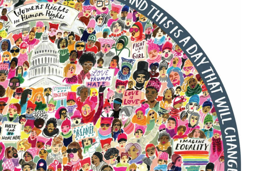 4.2 million women's marchers in one glorious 500-piece puzzle