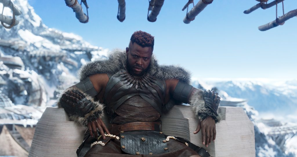 M'Baku played by Winston Duke in Black Panther