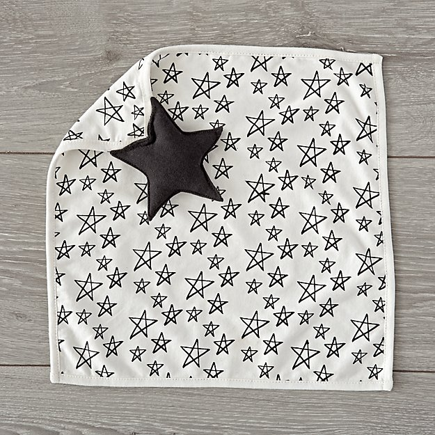 Black and white baby gifts: Black and white lovey | Land of Nod