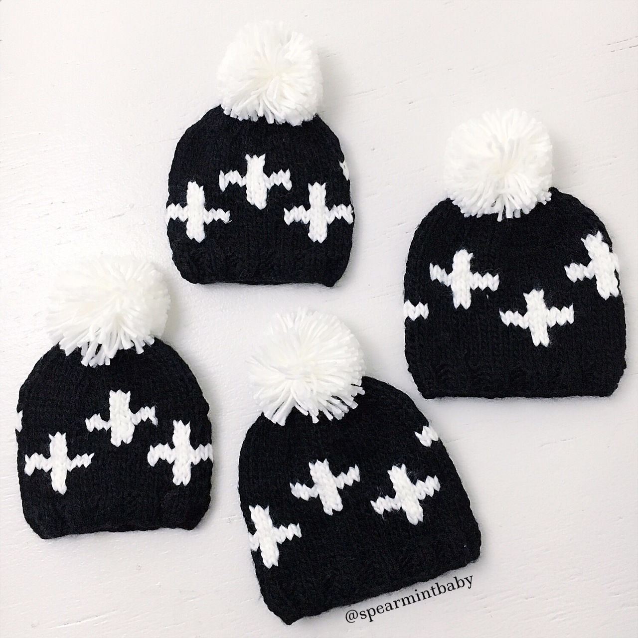 Black and white baby gifts: Cross hat | Spearmint Love