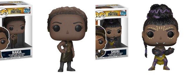 Black anther BoxLunch collection | Funko Pop Bobbleheads Nakia and Shuri