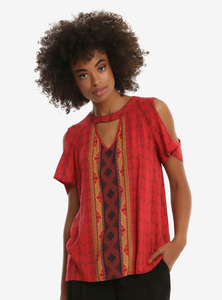 Black Panther BoxLunch collection   Nakia cold shoulder top
