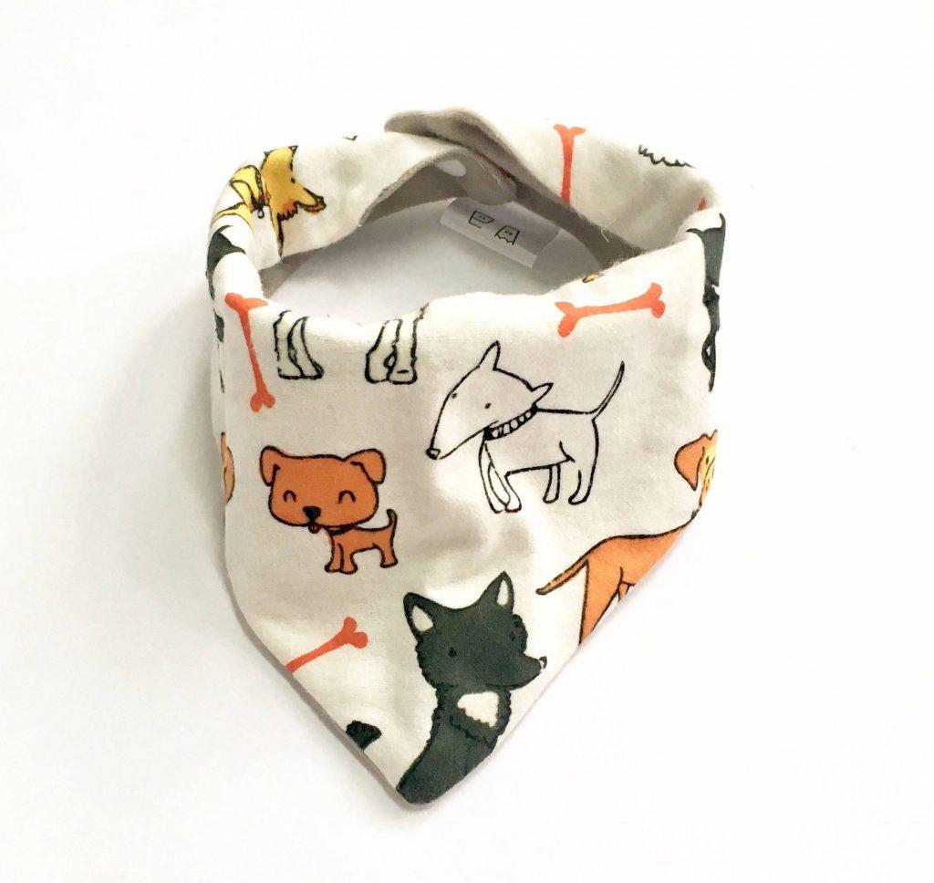 Homemade hipster dog baby bandana-bib on Etsy: Cute Year of the Dog baby gift!
