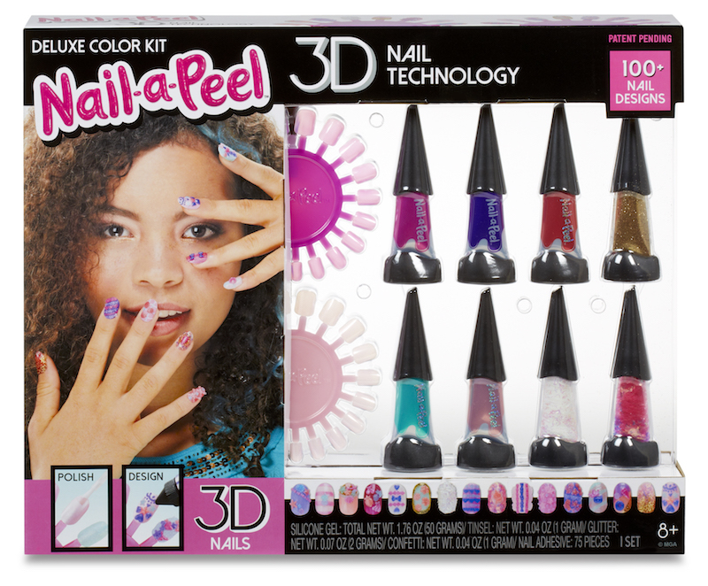 Hot toy trends from New York Toy Fair 2018: Creativity through cosmetics, like Nail-a-Peel which lets kids create 3-D nail art to express their creativity (sponsor)