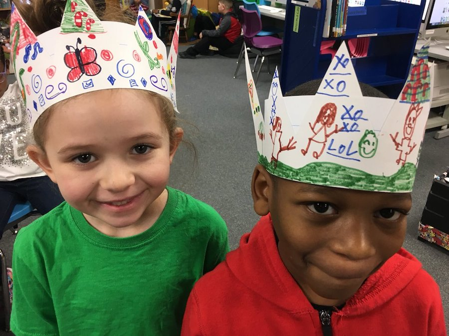 Kids printable paper crowns from LitWorld to celebrate World Read Aloud Day