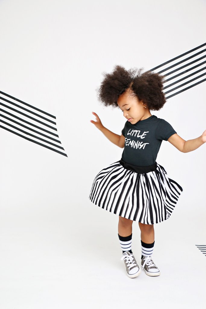 Black and white baby gifts: Little feminist t-shirt | Love Bubby