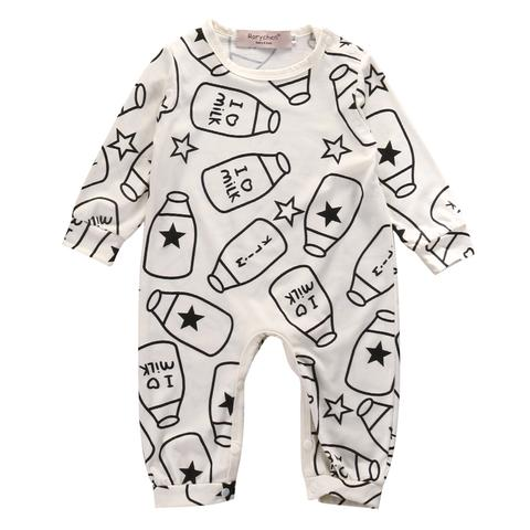 Black and white baby gifts: Milk print onesie | Moonlight Bundles