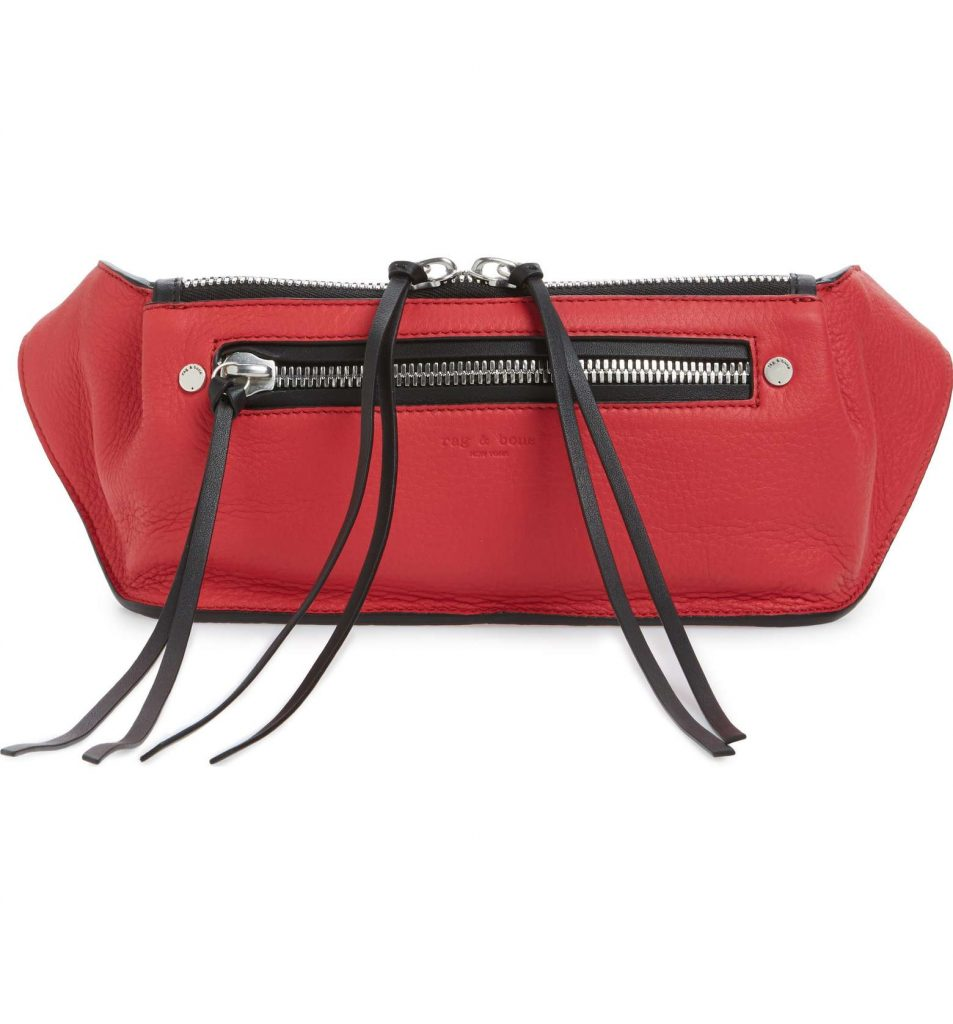 Hot belt bags for 2018: Rag & Bone's Large Ellis Leather Belt Bag. It's like a fanny pack!