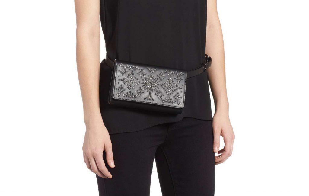 Hot Belt Bags for 2018: Rebecca Minkoff's Calfskin Studded Leather Belt Bag