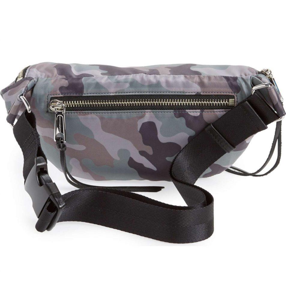 Designer fanny packs for 2018: Rebecca Minkoff Nylon Belt Bag in Camo