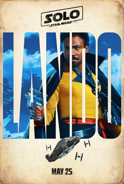 Solo A Star Wars Movie poster: Donald Glover as Lando