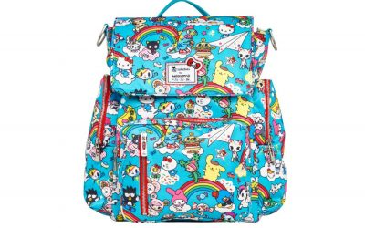 The new Tokidoki + Sanrio Ju-Ju-Be backpacks and diaper bags are an explosion of pop culture awesomeness.