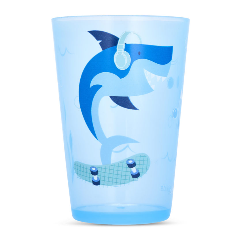 Cheeky Kids shark tumbler is a favorite! And each purchase buys a meal for a hungry child