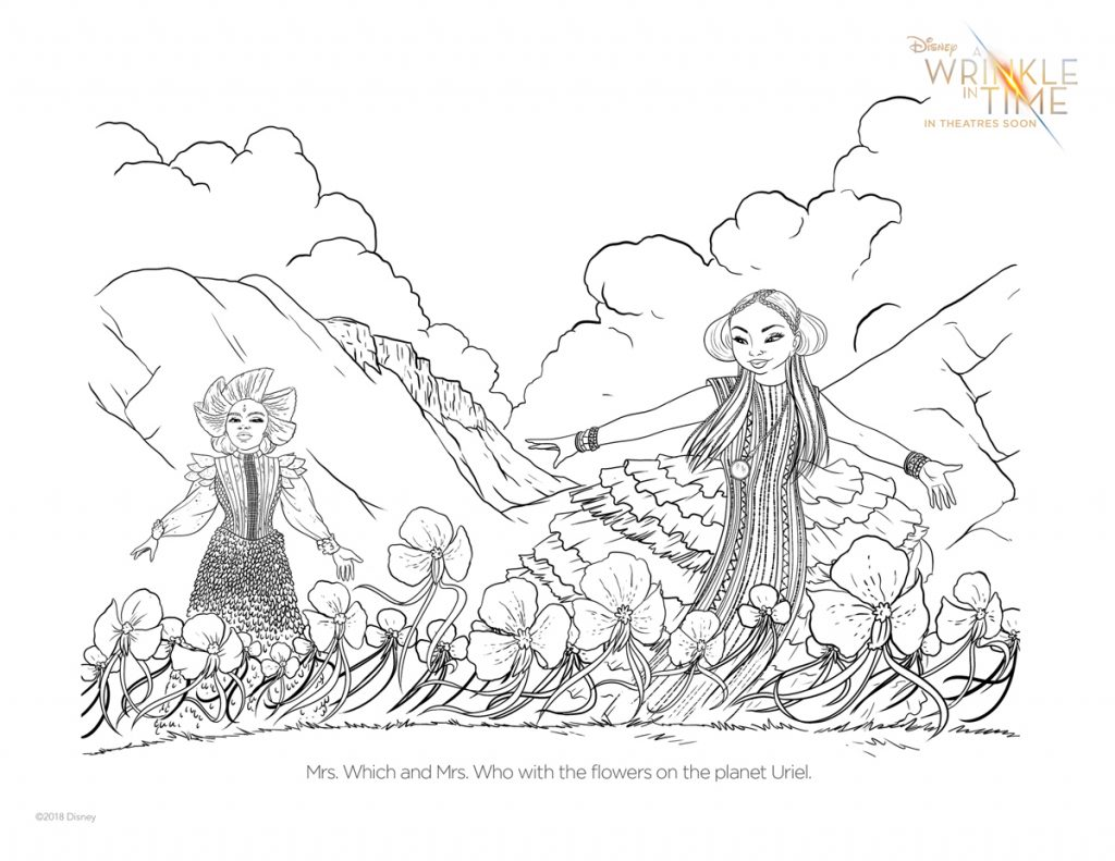 Printable A Wrinkle In Time Coloring Page via Cool Mom Picks