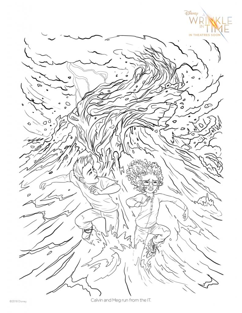 A Wrinkle in TIme: Free downloadable coloring page PDF via CoolMomPicks.com