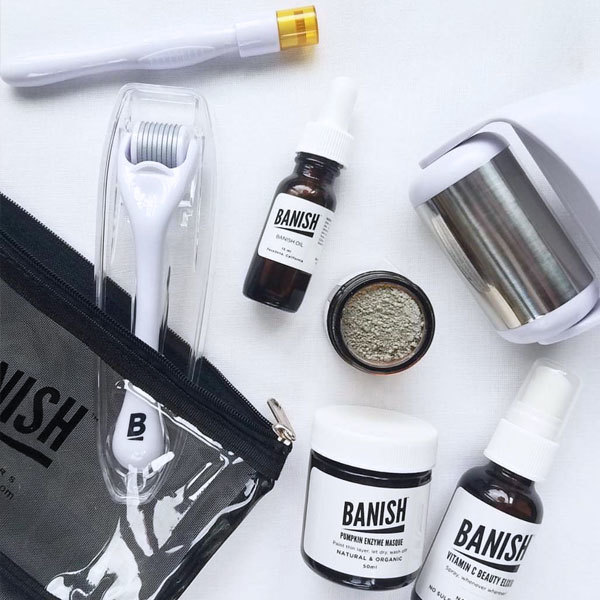 Banish all-natural skin care kit to help with fine lines, acne scars, dark circles and stretch marks