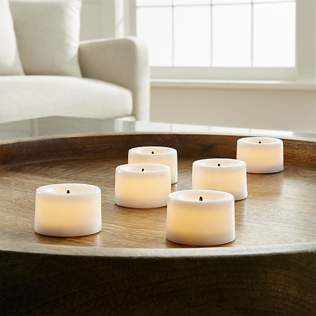 Battery operated flameless tea lights: Important to have around in case of a power outage