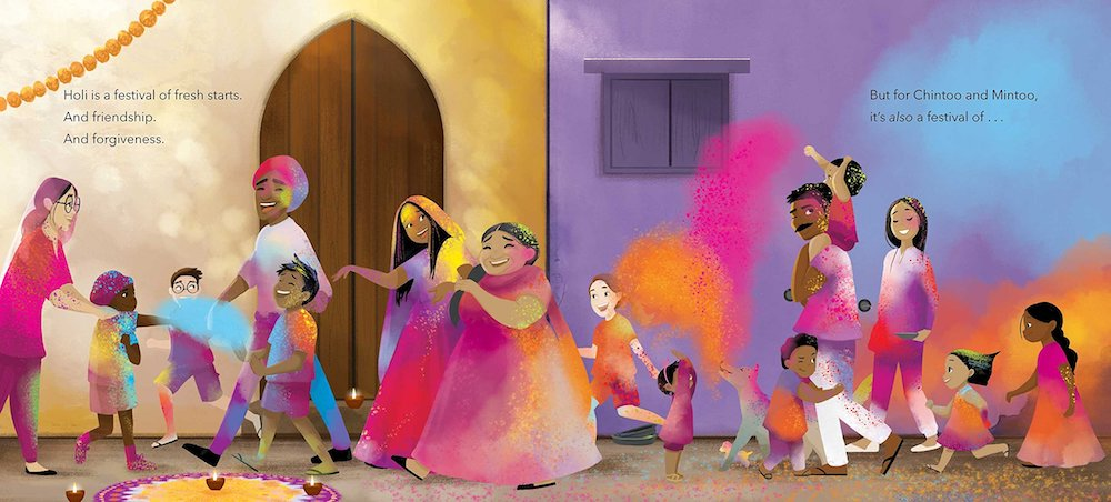 Book about Holi for kids: Festival of Countries by Kabir & Surishtha Sehgal and Vashti Harrison
