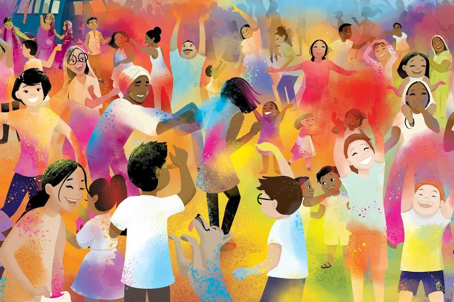 Holi hai! This must-read book about Holi for kids is full of joy