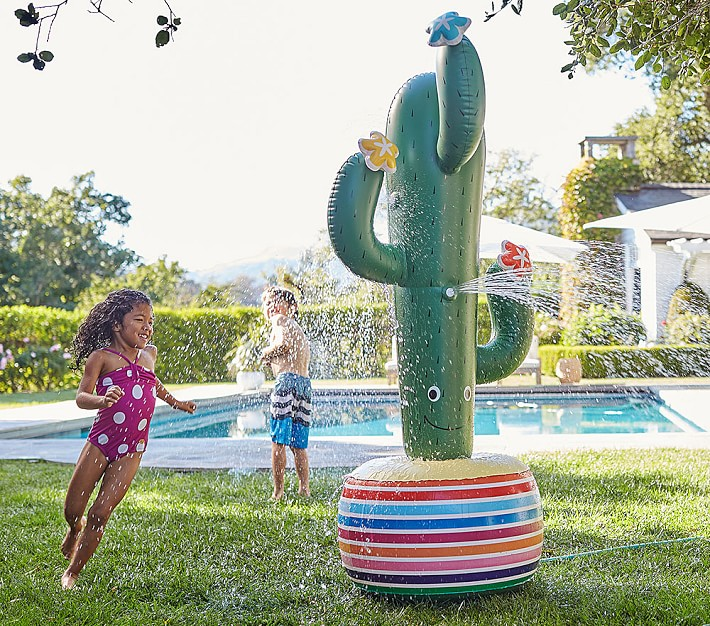 Giant inflatable sprinklers: Cactus giant inflatable sprinkler | Pottery Barn Kids
