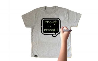 How these chalkboard t-shirts are encouraging kids' creativity – and their activism – with a big discount.