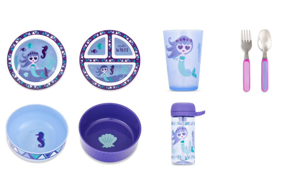 Cheeky Kids mermaid mealtime sets by Ayesha Curry: Each purchase feeds one hungry child