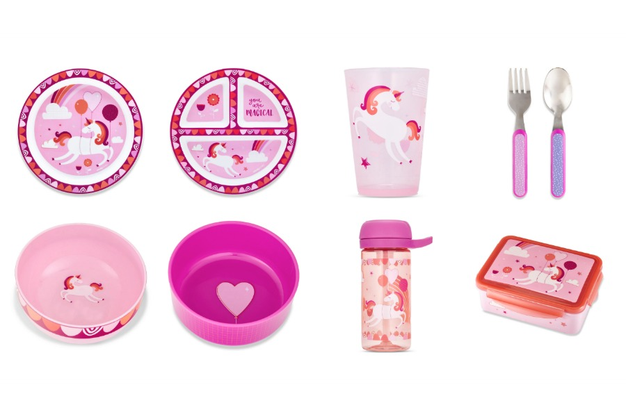 "Cheeky Kids ""baloonicorn"" mealtime sets by Ayesha Curry: Each purchase feeds one hungry child"