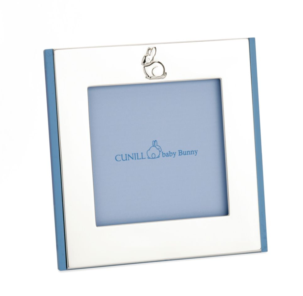 First Easter gifts for babies: A keepsake silver bunny frame from Cunill