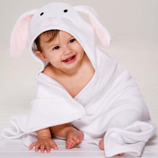 First Easter gifts for babies: Easter bunny bath wrap   My Sweet Muffin