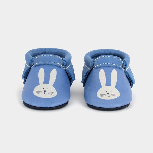 First Easter gifts for babies: Easter bunny moccasins   Freshly Picked