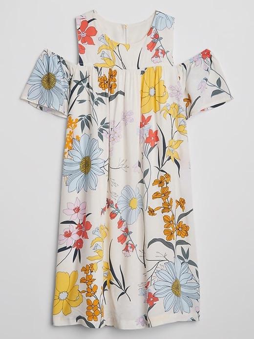 Versatile Spring dresses for kids: Floral cold-shoulder dress at The Gap